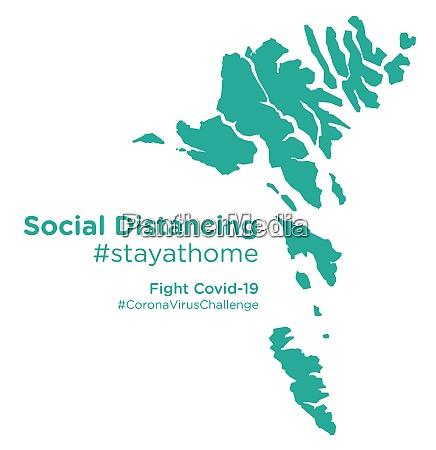faroe, islands, map, with, social, distancing - 28258950