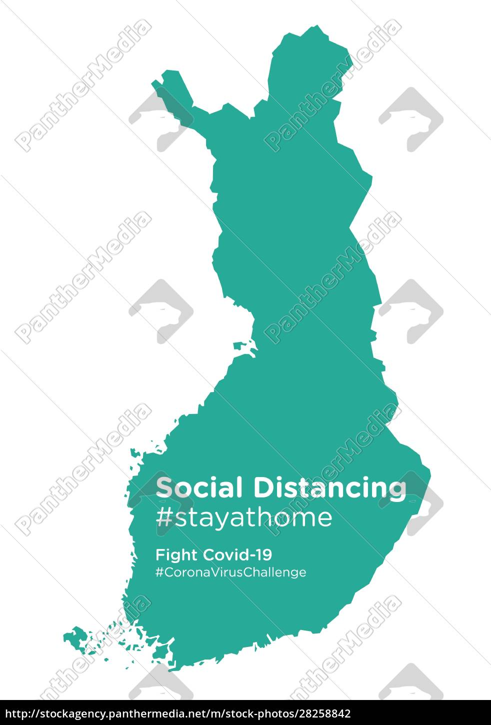 finland, map, with, social, distancing, #stayathome - 28258842