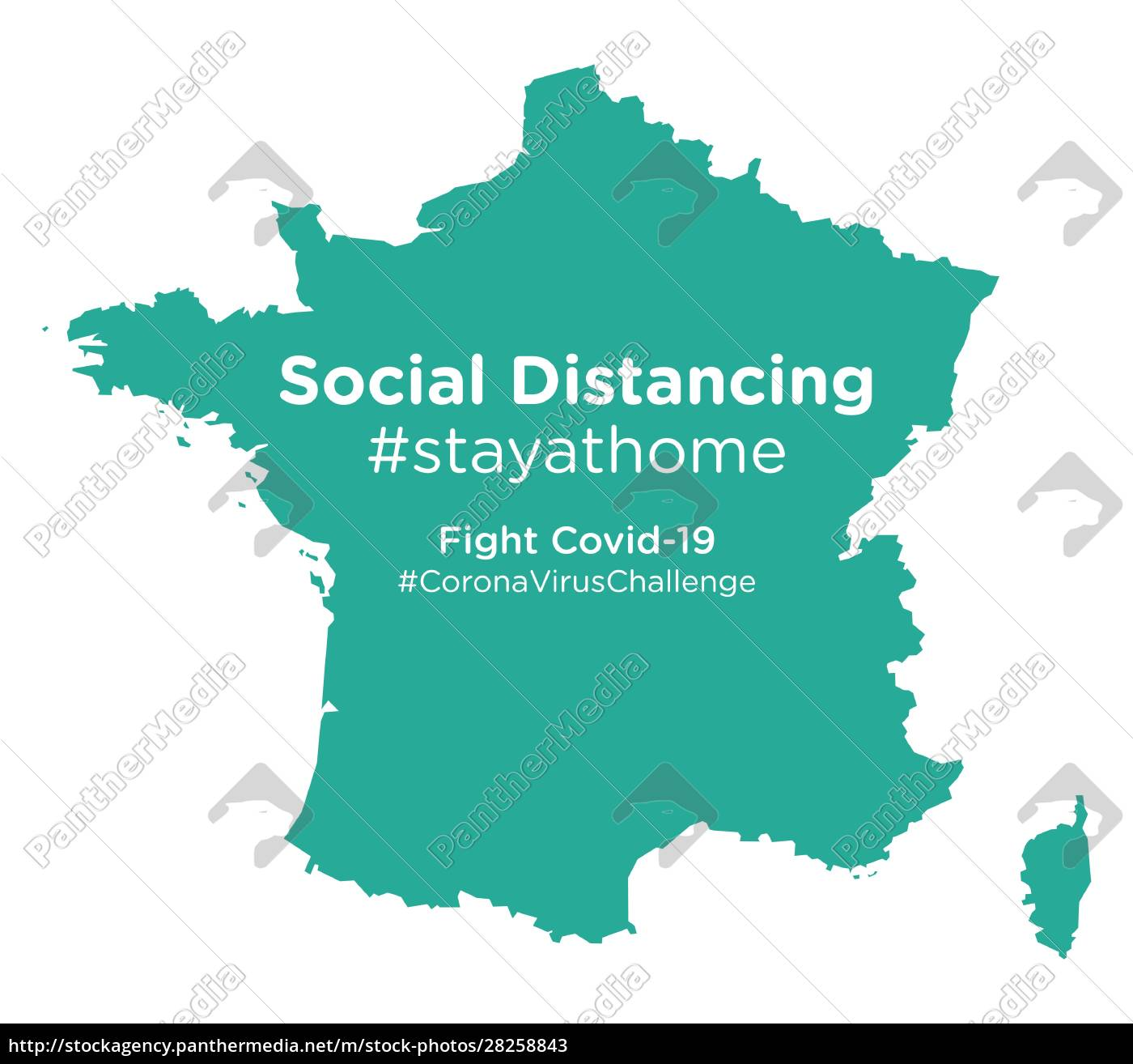france, map, with, social, distancing, #stayathome - 28258843