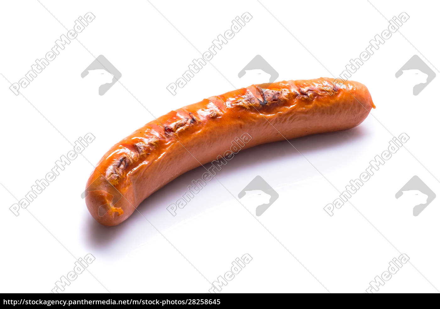 fried, meat, sausage, white, isolated - 28258645