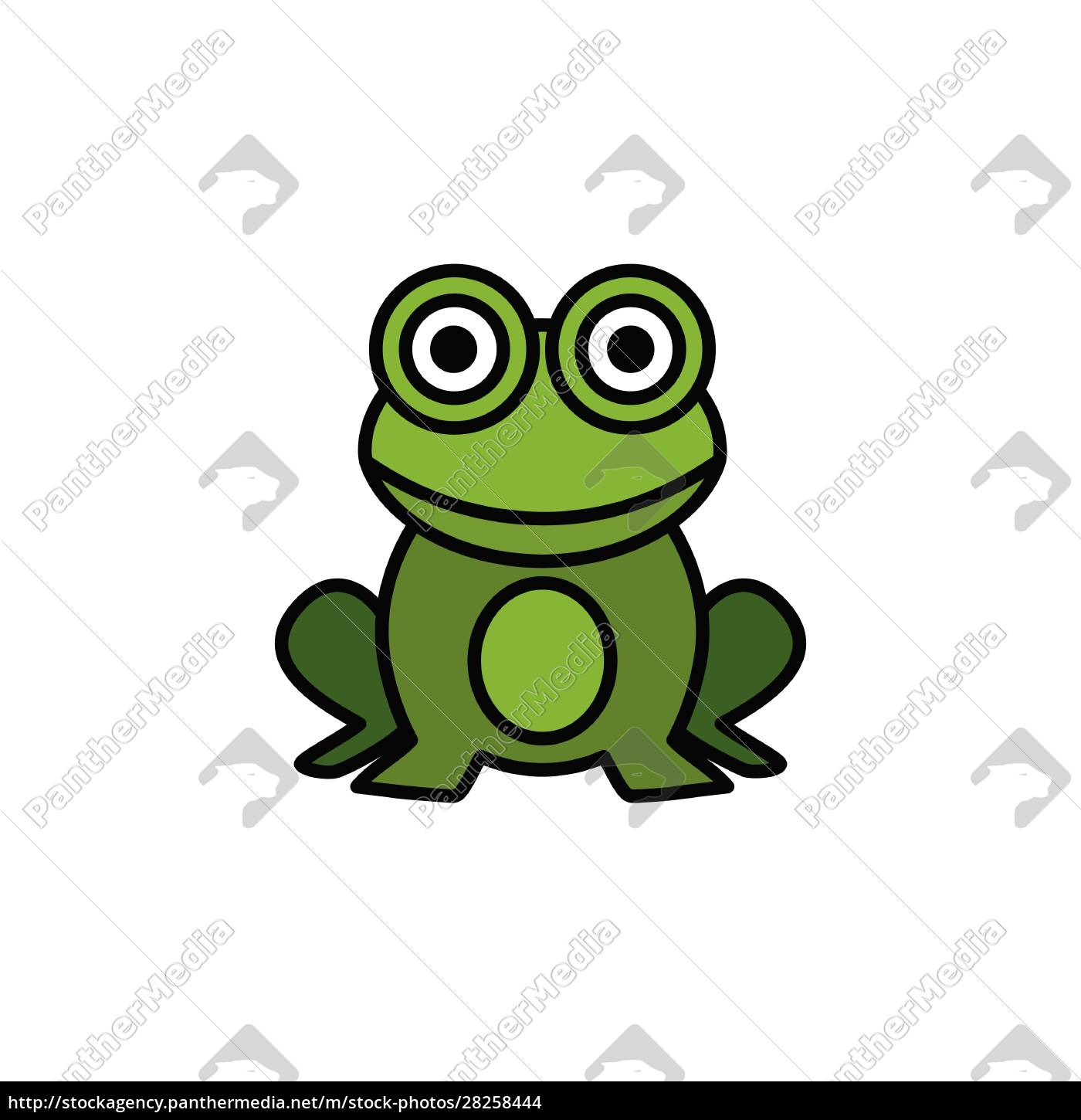 frog., filled, color, icon., animal, vector - 28258444