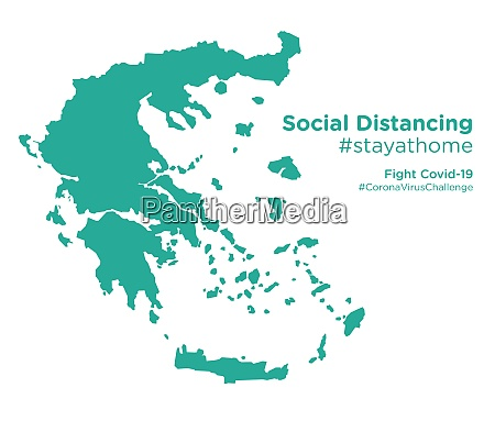 greece, map, with, social, distancing, stayathome - 28258951