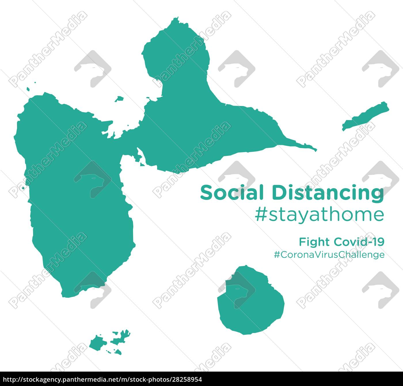 guadeloupe, map, with, social, distancing, stayathome - 28258954