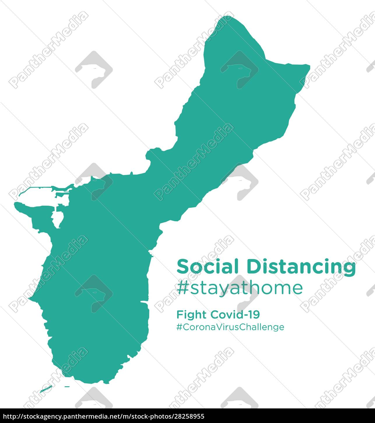 guam, map, with, social, distancing, stayathome - 28258955