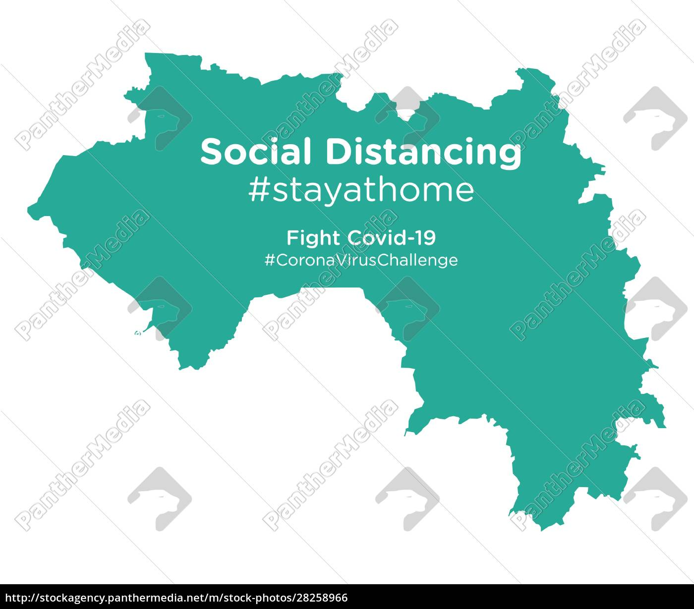 guinea, map, with, social, distancing, stayathome - 28258966