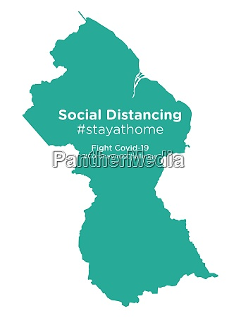 guyana, map, with, social, distancing, stayathome - 28258968