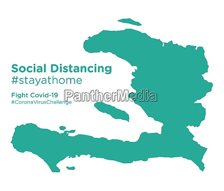haiti, map, with, social, distancing, stayathome - 28258858