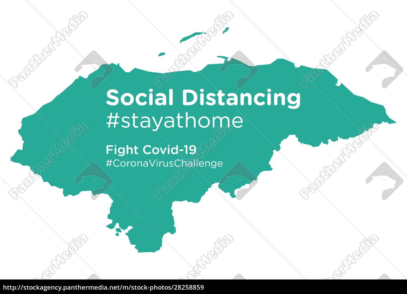 honduras, map, with, social, distancing, stayathome - 28258859