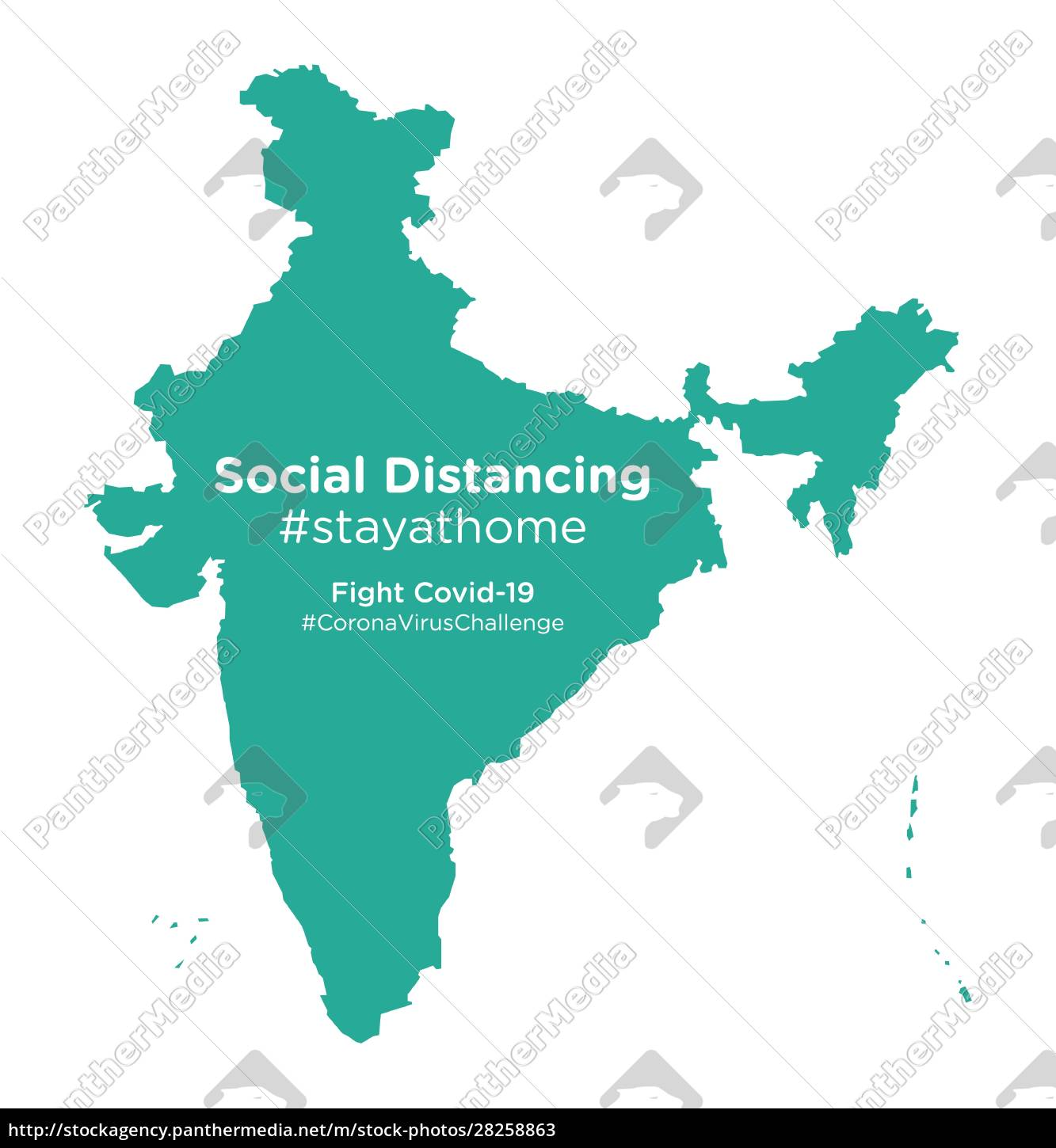 india, map, with, social, distancing, stayathome - 28258863