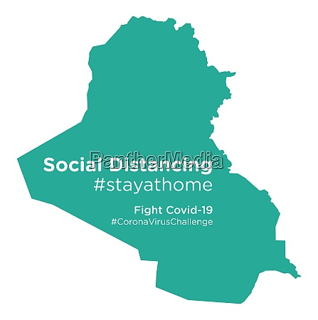 iraq, map, with, social, distancing, stayathome - 28258873
