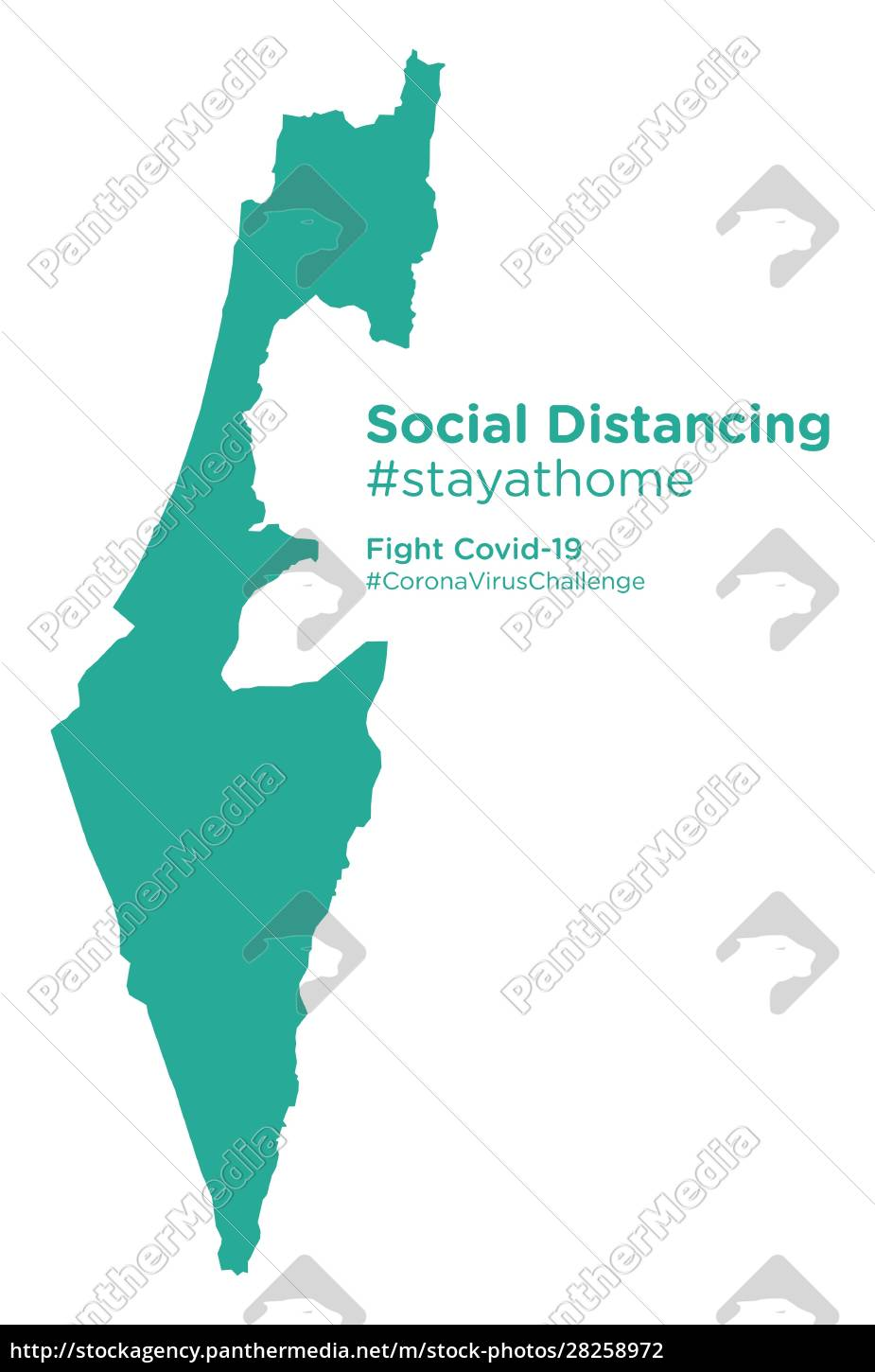 israel, map, with, social, distancing, stayathome - 28258972