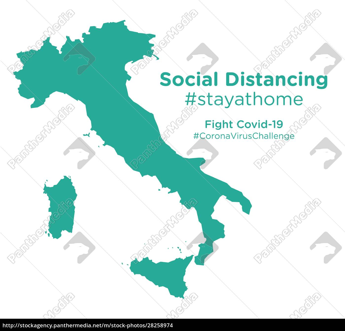 italy, map, with, social, distancing, #stayathome - 28258974
