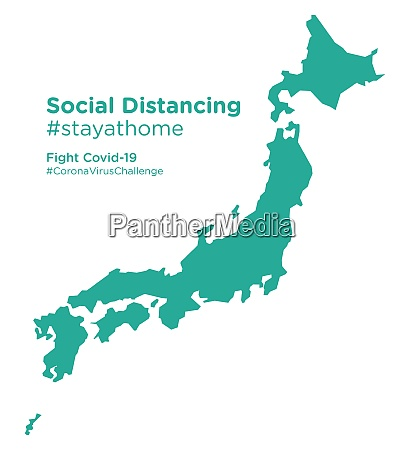 japan, map, with, social, distancing, #stayathome - 28258959
