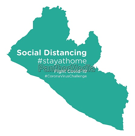 liberia, map, with, social, distancing, stayathome - 28258676