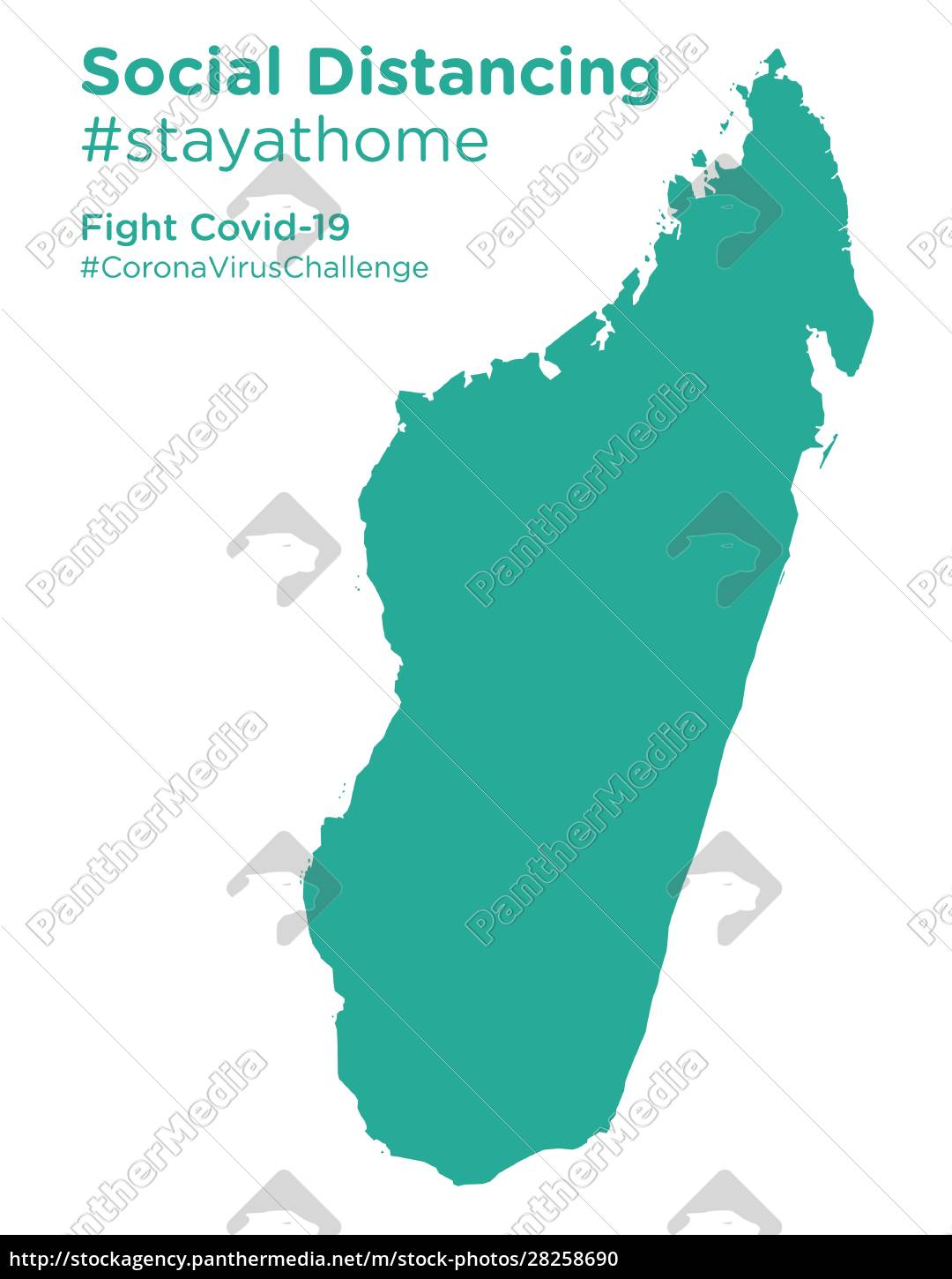 madagascar, map, with, social, distancing, stayathome - 28258690