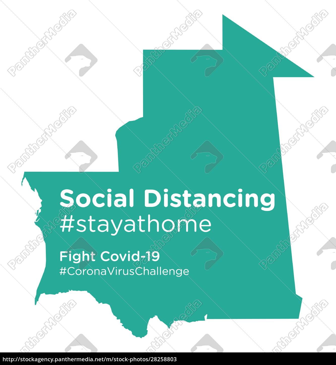 mauritania, map, with, social, distancing, stayathome - 28258803