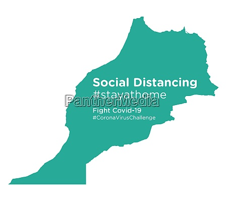 morocco, map, with, social, distancing, stayathome - 28258697