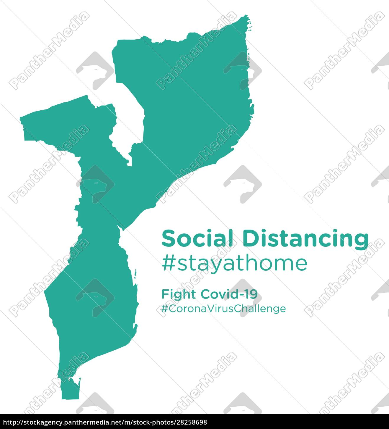 mozambique, map, with, social, distancing, stayathome - 28258698