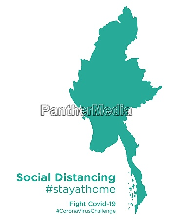 myanmar, map, with, social, distancing, stayathome - 28258699