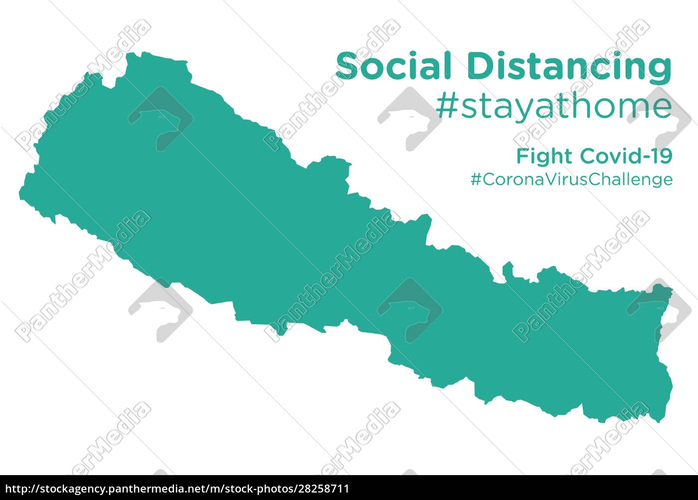 nepal, map, with, social, distancing, stayathome - 28258711