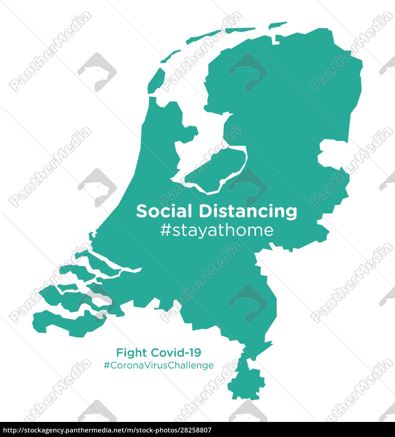 netherlands, map, with, social, distancing, #stayathome - 28258807