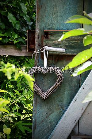 old, wooden, door, in, a, garden - 28258088