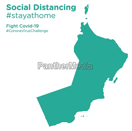 oman, map, with, social, distancing, stayathome - 28258714