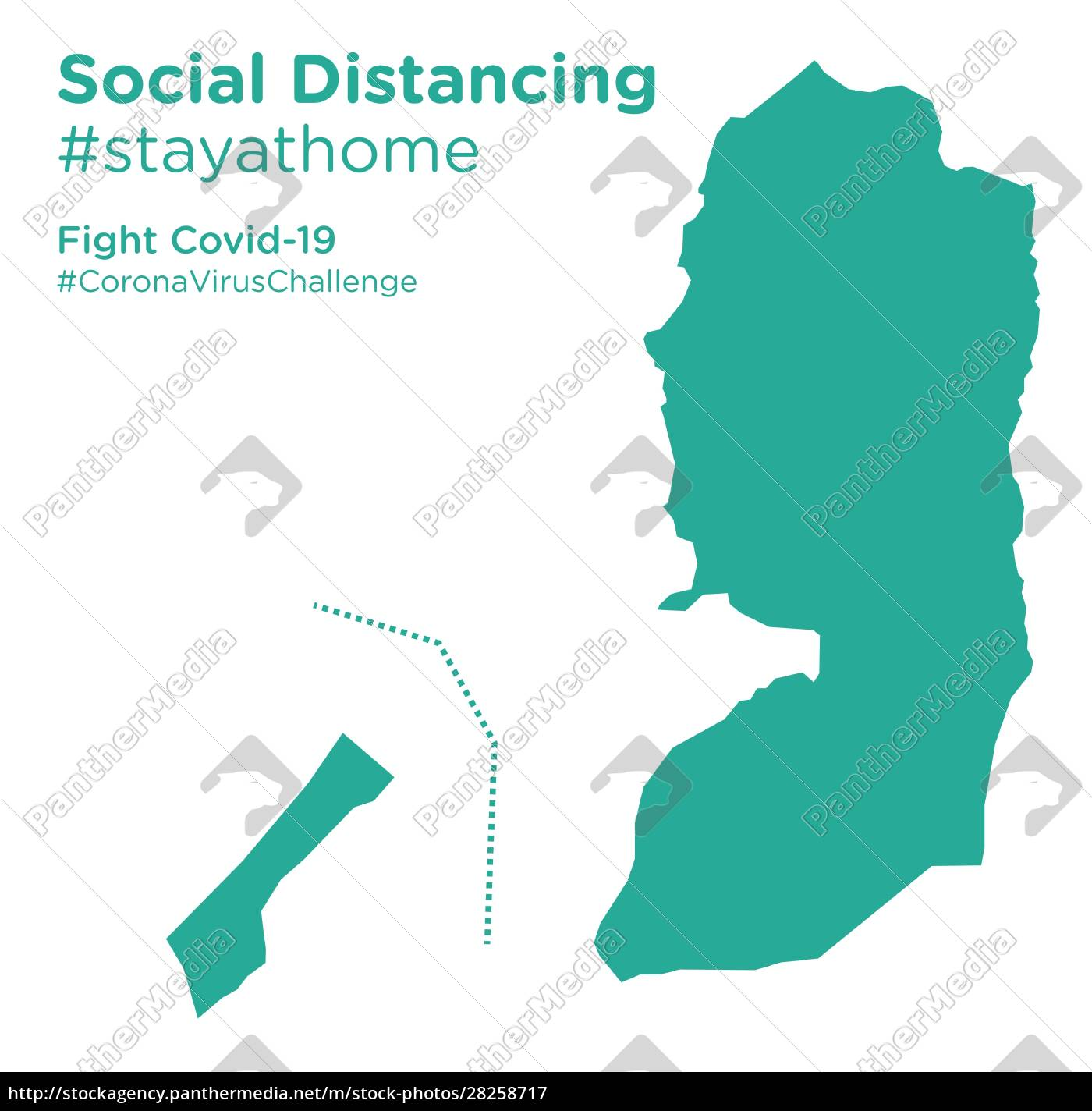 palestine, map, with, social, distancing, stayathome - 28258717