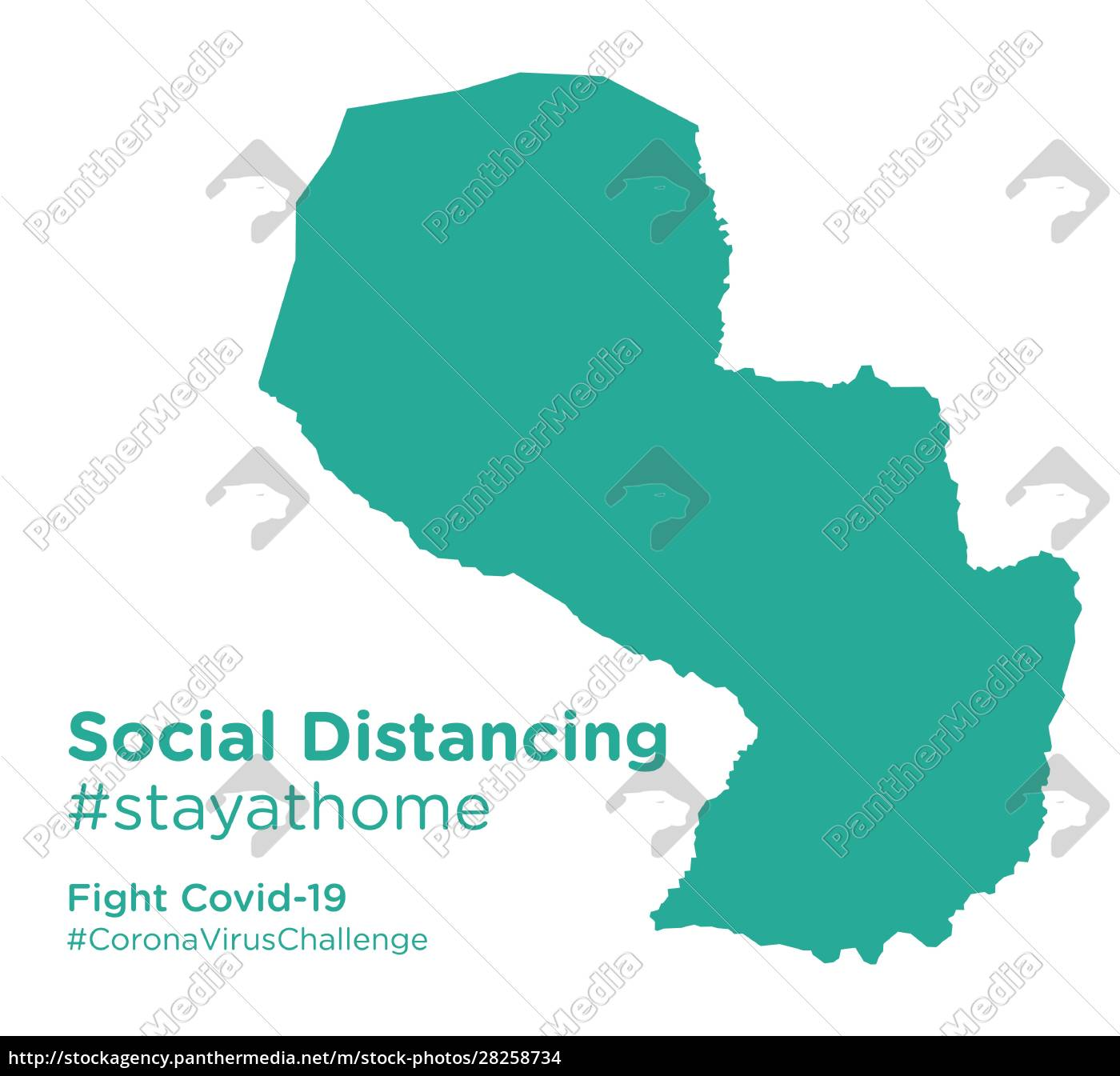paraguay, map, with, social, distancing, stayathome - 28258734