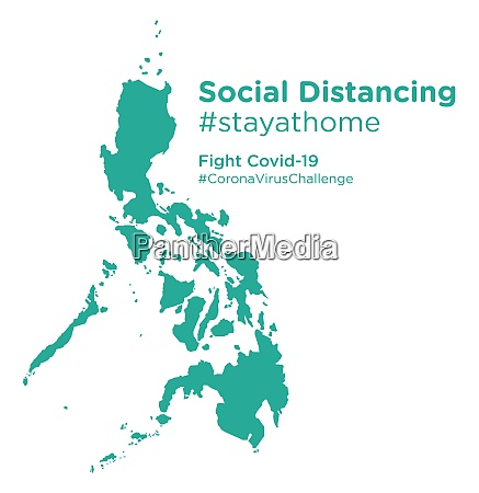 philippines, map, with, social, distancing, stayathome - 28258817