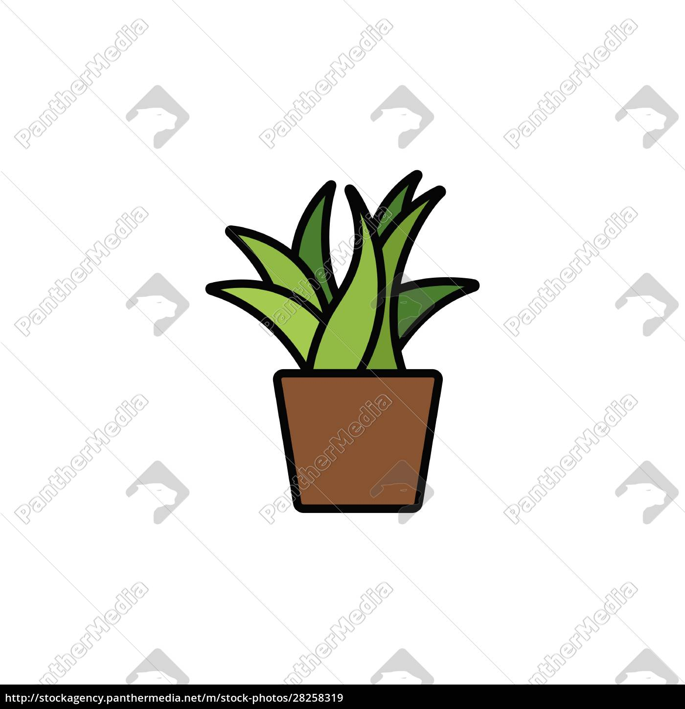 plant., filled, color, icon., nature, vector - 28258319