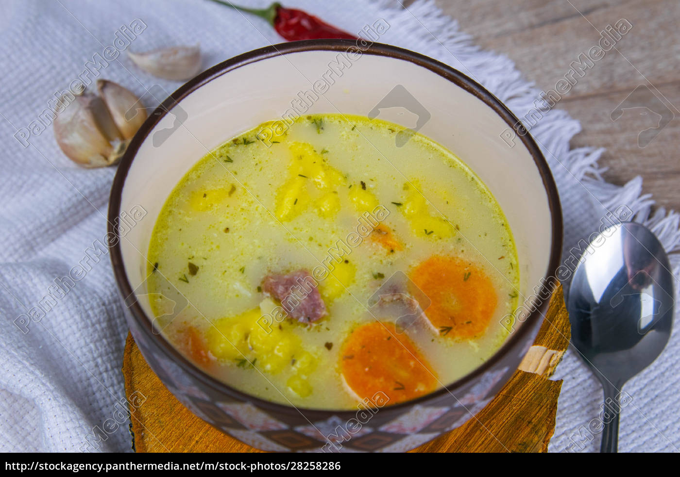 potato, cream, soup, with, mushrooms, , carrots - 28258286