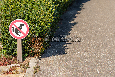 prohibition, sign, no, dog, excrement - 28258368