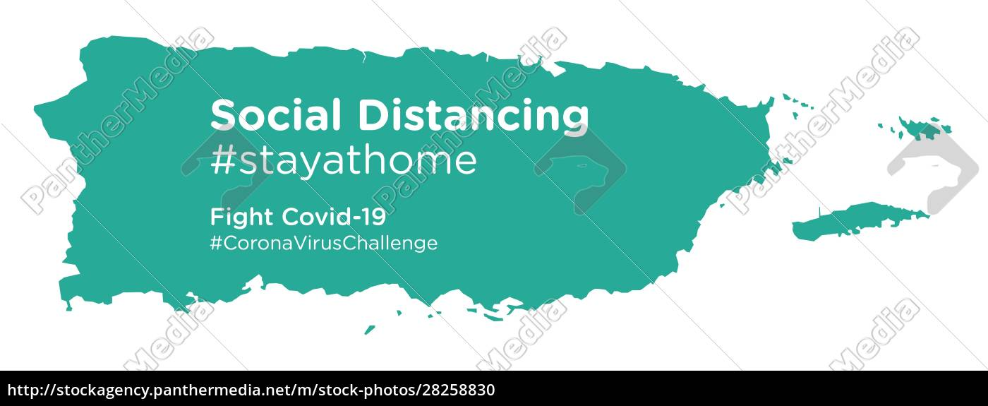 puerto, rico, map, with, social, distancing - 28258830