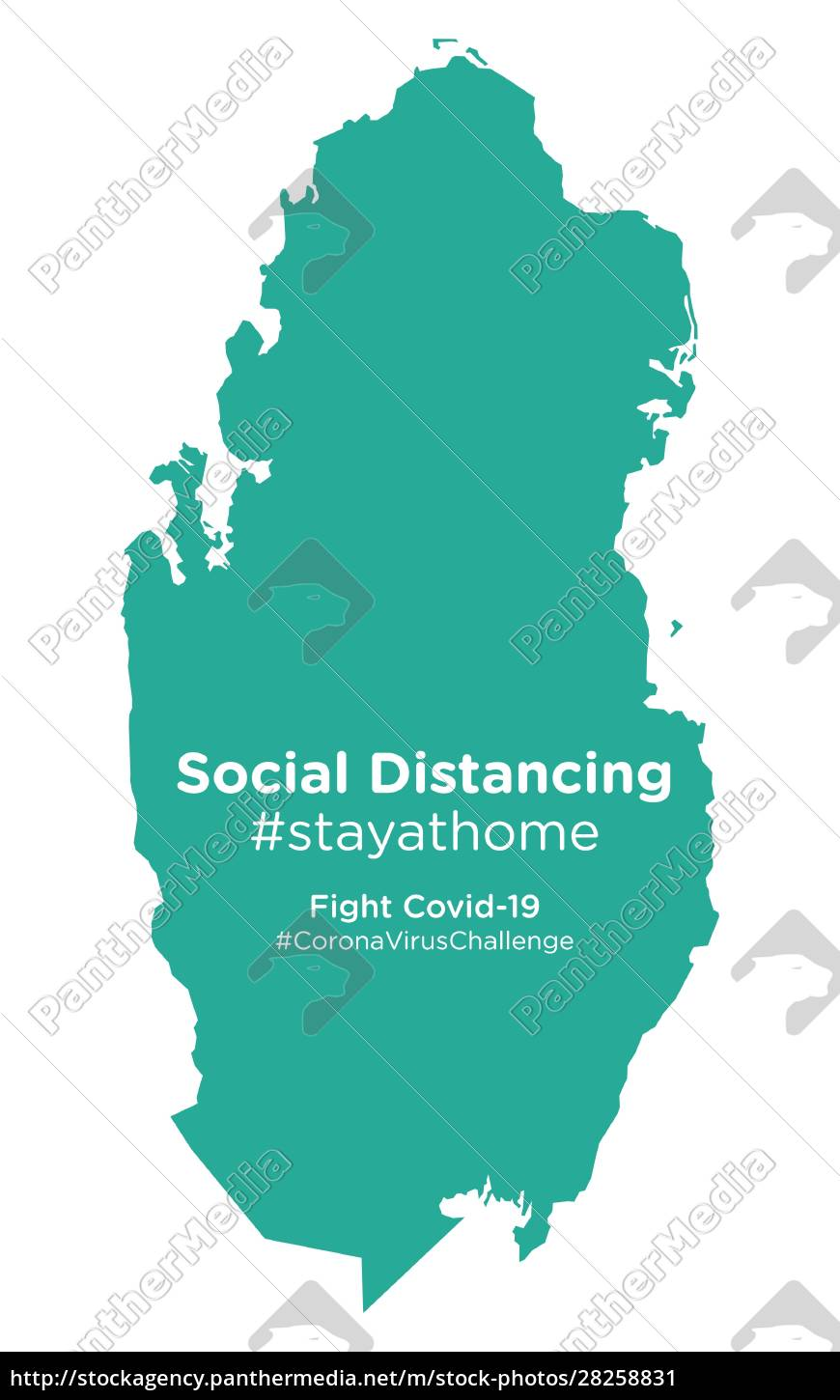 qatar, map, with, social, distancing, stayathome - 28258831