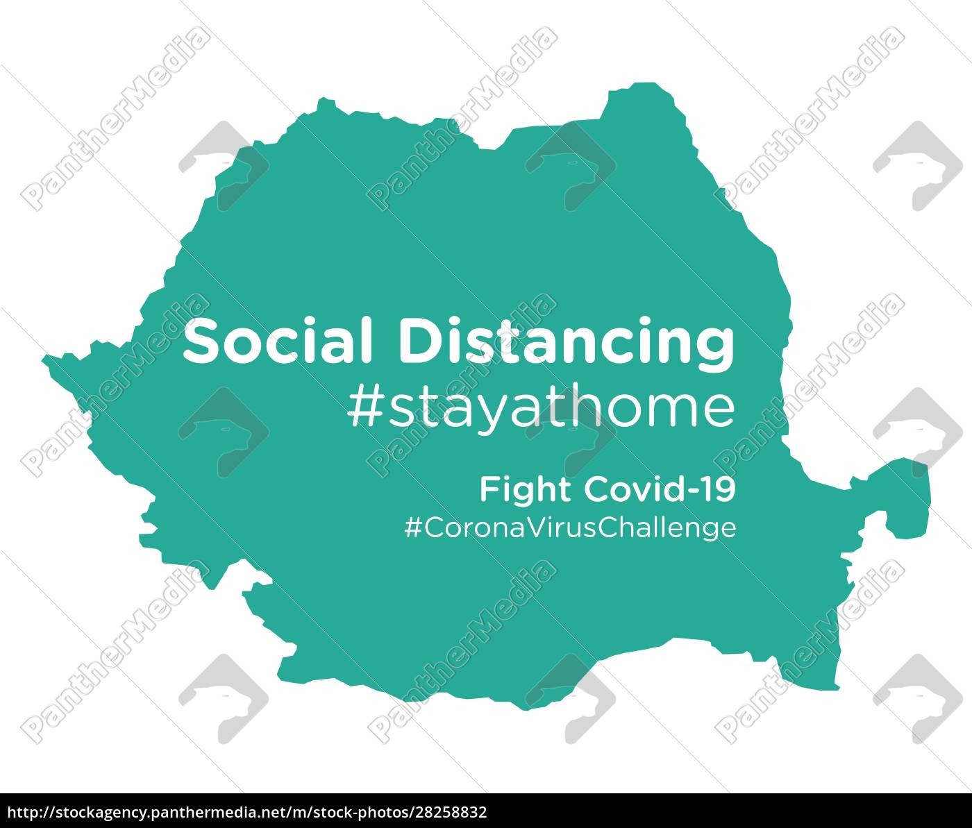 romania, map, with, social, distancing, stayathome - 28258832