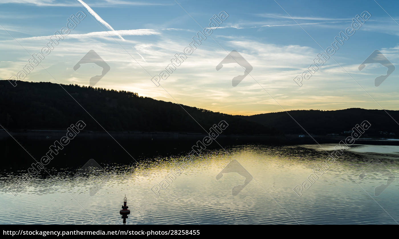 romantic, sunset, on, edersee - 28258455
