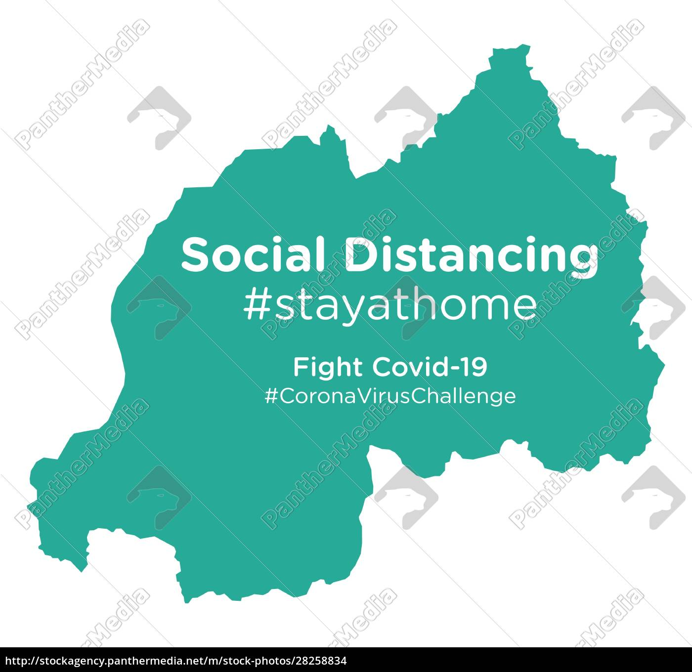 rwanda, map, with, social, distancing, stayathome - 28258834