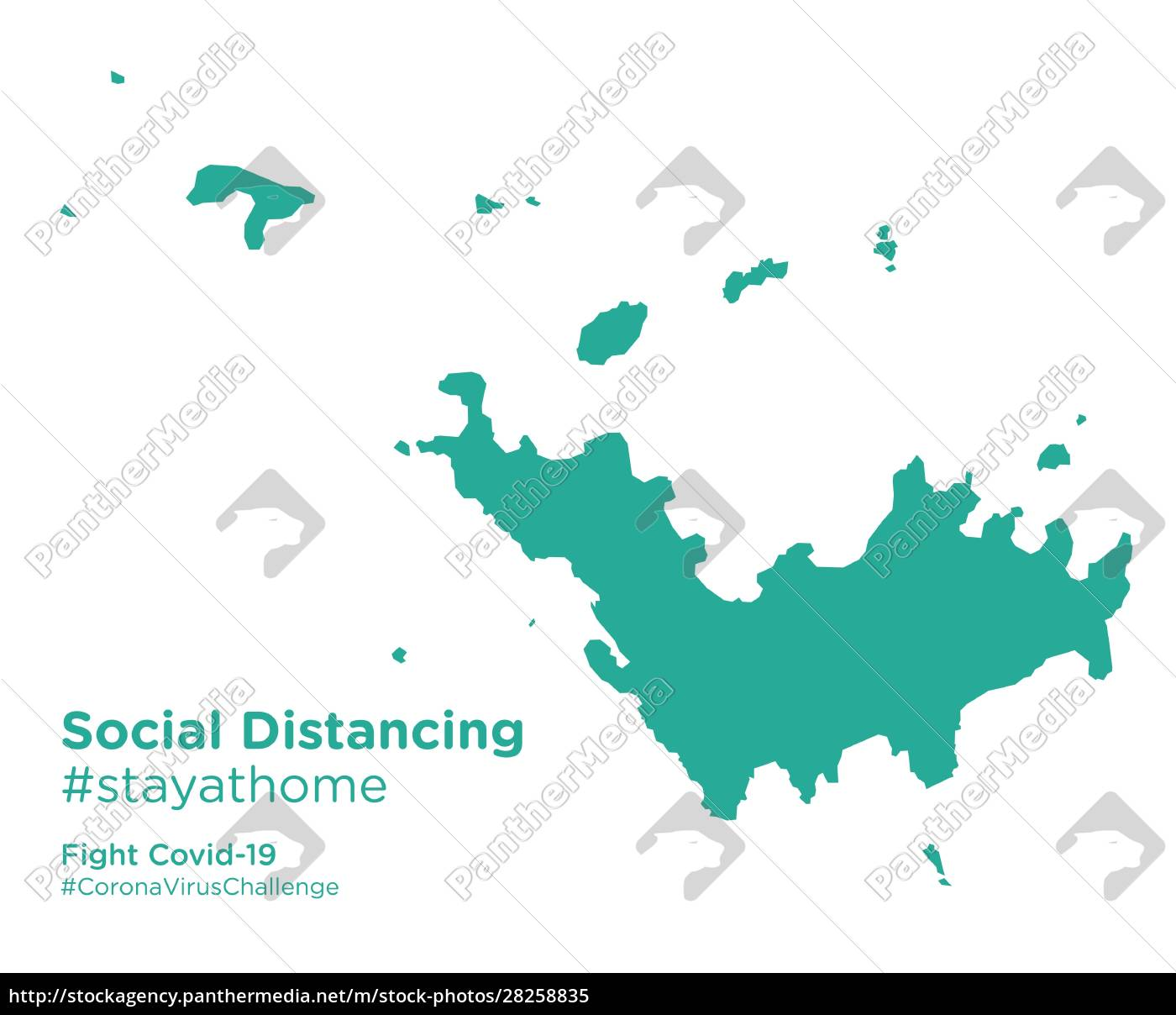 saint, barthelemy, map, with, social, distancing - 28258835
