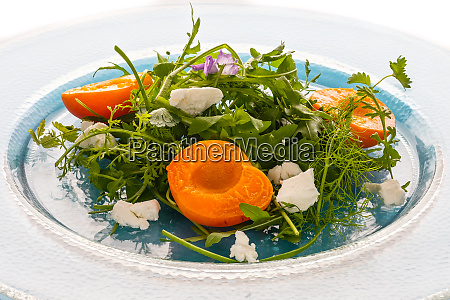 salad, with, wild, herbs, goat, chees - 28258640