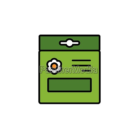 seed, bag., filled, color, icon., gardening - 28258324