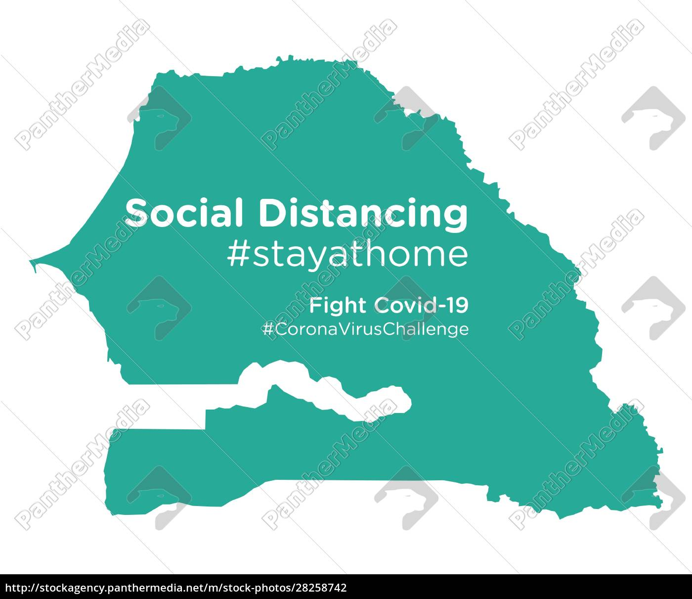 senegal, map, with, social, distancing, stayathome - 28258742