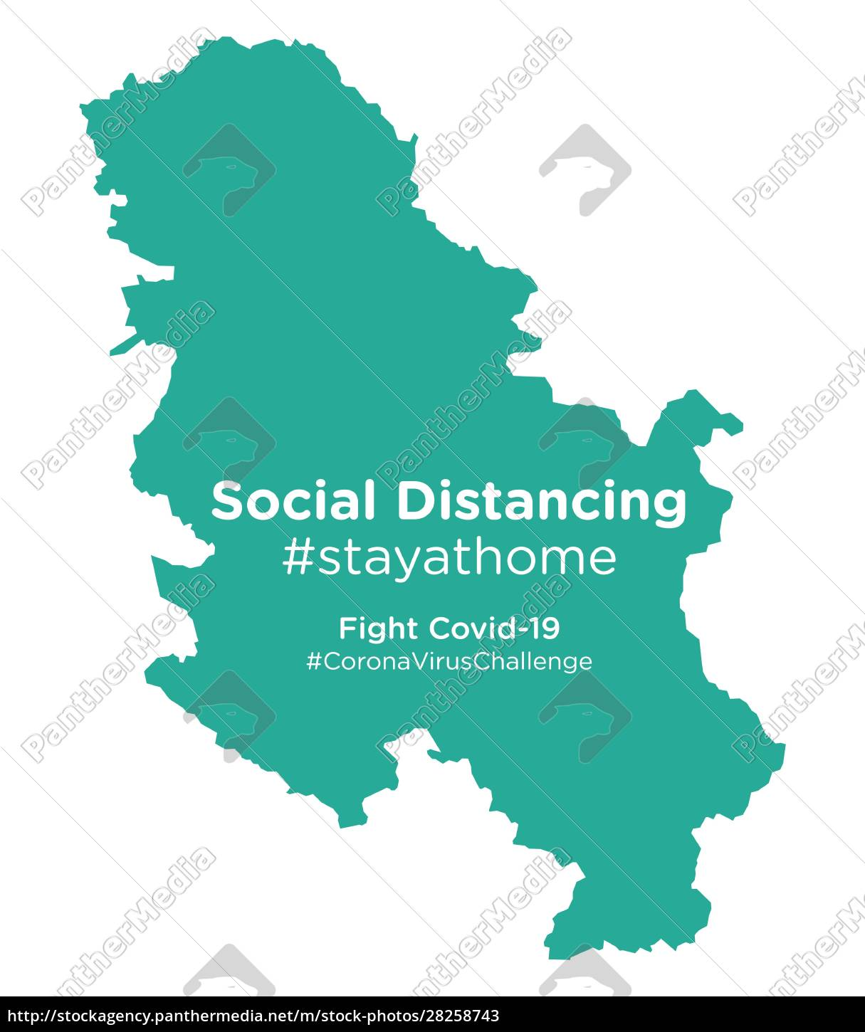 serbia, map, with, social, distancing, stayathome - 28258743