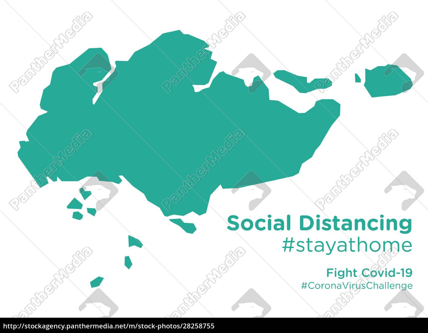 singapore, map, with, social, distancing, stayathome - 28258755