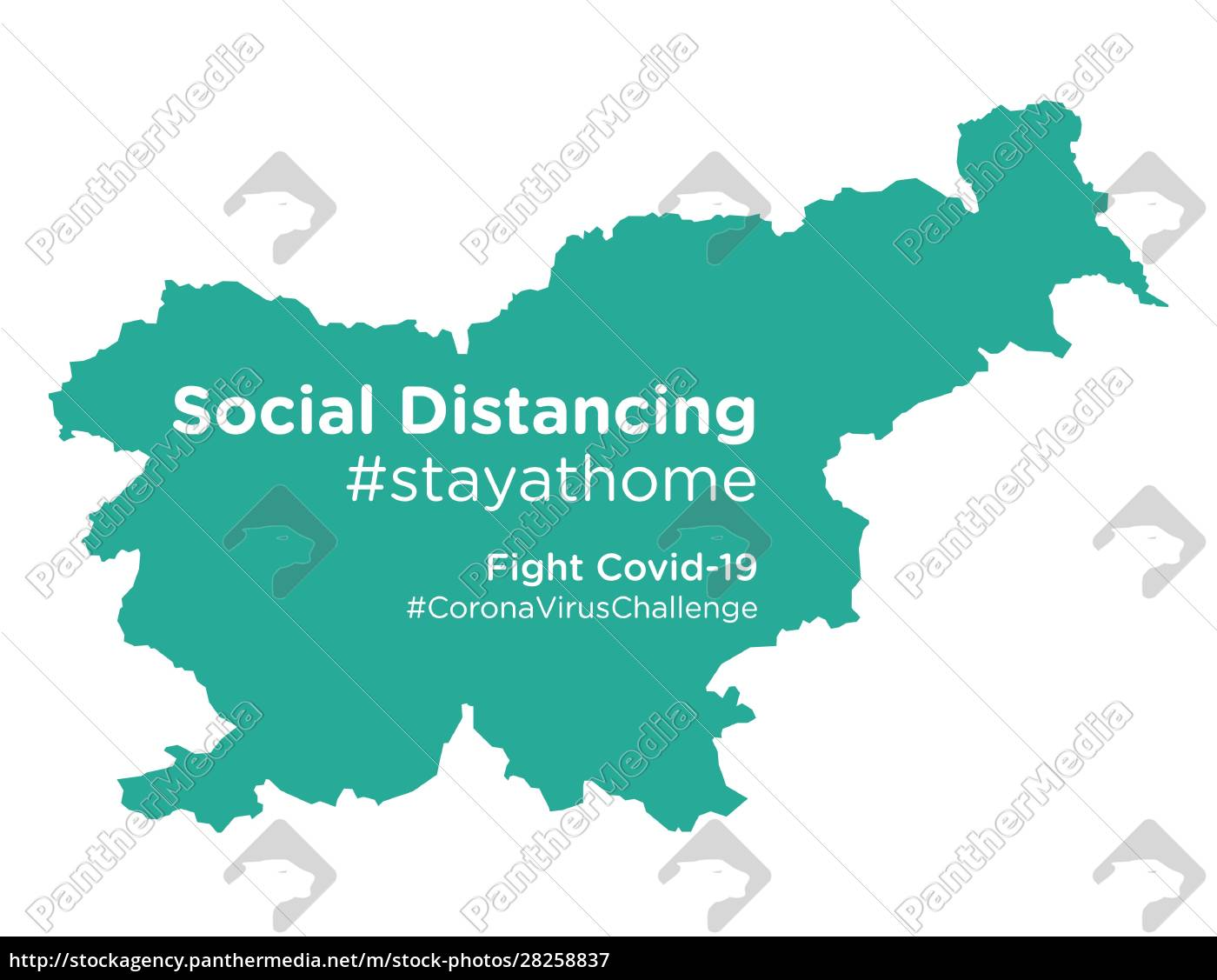 slovenia, map, with, social, distancing, stayathome - 28258837