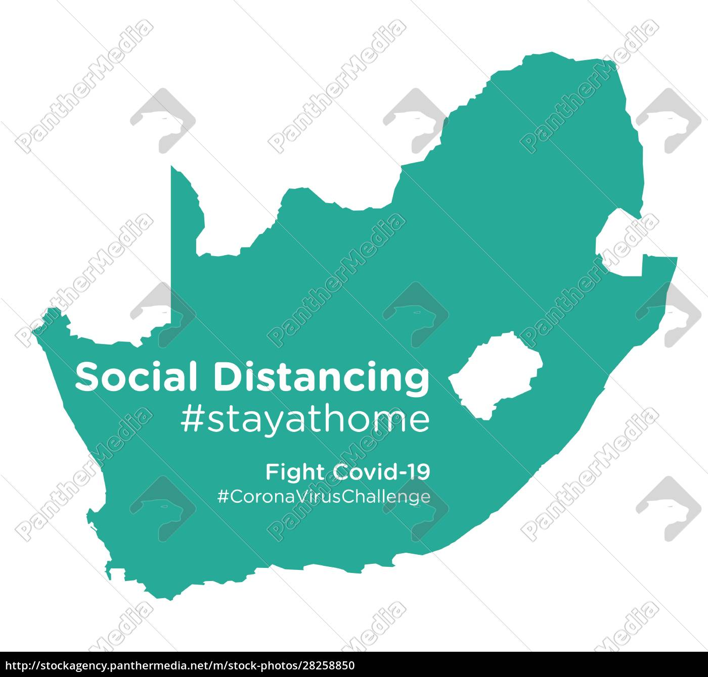 south, africa, map, with, social, distancing - 28258850