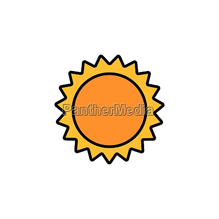 sun., filled, color, icon., weather, vector - 28258326