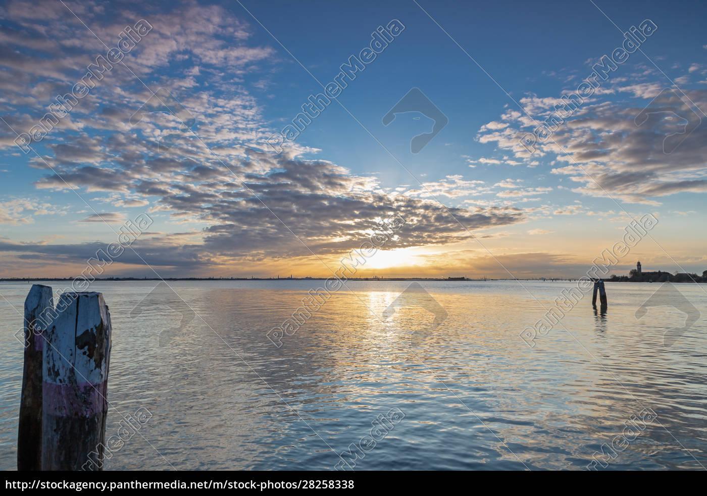 sunset, in, burano, , venice - 28258338