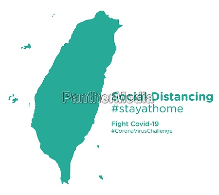 taiwan, map, with, social, distancing, stayathome - 28258770