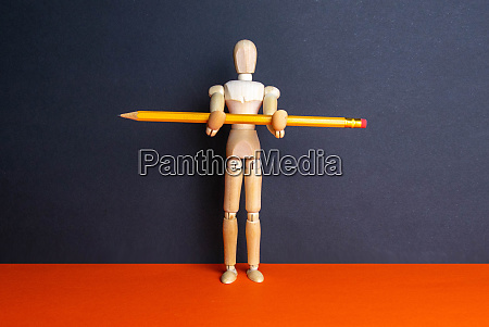 the, figure, of, a, wooden, man - 28258181